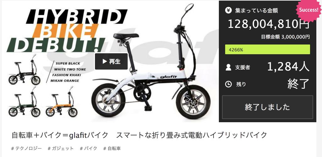 ハイブリッドバイクの画像
